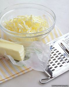 Softening Secret -- When you're ready to bake, waiting for cold butter to soften can seem to take forever. Here's how to hurry the process along: Over a mixing bowl, shred the amount of butter you need on a grater. The little pieces will soften faster than a solid stick. In no time, the butter will be bake-worthy.
