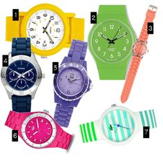 Colorful watches!