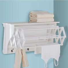 The Accordion Drying Rack is a space-saving way to air-dry delicates.