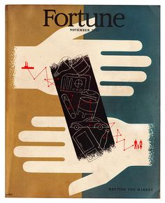 FORTUNE - November 1947. Cover by Hans Moller