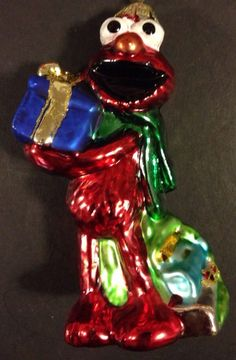 BLOWN GLASS~MUPPETS KERMIT THE FROG ORNAMENT~NWT