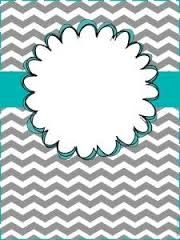 Free printable brown and white chevron binder cover template ...