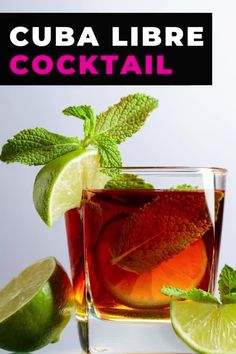 The Cuba Libre cocktail isn't just rum and Coke, it also comes with a fascinating history. You'd be surprised who named this drink and why this cocktail with rum, Coke and lime is still popular when you travel to Cuba. #cuba #travel #rum #cocktail #drink #cubalibre #rumandcoke #lime #classic #recipe Beach Drinks, Party Drinks, Summer Drinks, Cocktail Drinks, Cuba Libre Drink, Cuba Libre Cocktail, Mexican Cocktails, Around The World Food, Magic Recipe