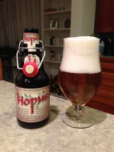 Lefebvre Hopus: Day 129: Lefebvre Hopus from Brasserie Lefebvre. Style of beer is 'Belgian IPA'. ABV is 8.3%. Read more at http://www.beerinfinity.com/beer-of-the-day-lefebvre-hopus/.