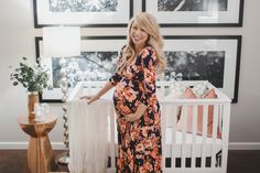 LOVING this pretty mama in her baby girl's nursery!