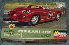 Vintage Monogram slot cars | MONOGRAM 1/32 SLOT CAR KIT - FERRARI 275P SLOTCAR RACING BOX ...