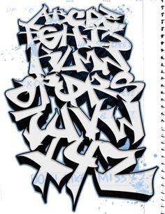 Graffiti Alphabet | Sketch ABC by dadouX Tedk One