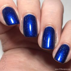 Takko Lacquer: Star Crossed - GAH! I so don't need another blue, but look at the beauty, intensity, and depth of this one!! Launches thru resale 5/27 @ 8:30pm ET