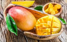 """It is due to the significant science-proven health benefits of mango that it is named the """"king of fruits"""". Mango Fruit, Mango Tree, Fresh Fruit, Mango Health Benefits, Deco Fruit, Fruits Photos, Beautiful Fruits, Stone Fruit, Exotic Fruit"""