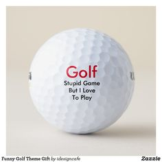 Funny Golf Theme Gift Golf Balls  everything golf, golf tattoo, golf tournaments #powerpackage #golfswing #Golf