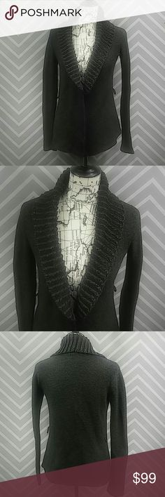 """Armani Exchange Rib Collar Merino Wool Cardigan Reasonable offers always considered on items over $15. Bundle discount available! No trades.  Very gently used! Grey knit, ribbed collar Armani Exchange cardigan. Cotton and wool blend. Small and delicate, but warm! Perfect to accent any outfit! Two side belt loops to add an accent belt of desired. Bust approximately 19"""" flat, length approximately 27"""". Sleeve inseam 20"""". 50% cotton, 25% Merino wool, 25% nylon.  M63.4399 Armani Exchange Sweaters…"""