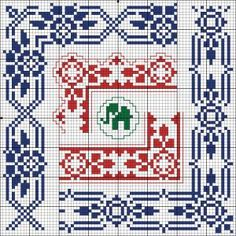 Corners - Charts for cross stitch and filet crochet.