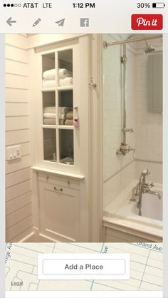 This is the custom cabinet that will replace the old stall shower.