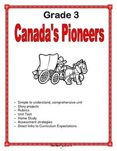 Develop students knowledge with this high interest, comprehensive reproducible unit. Encourage students to compare their life to the lives of early settlers, identify settlers country of origin and examine contributions of Aboriginal peoples with ready to use activities. Canadian Social Studies, Curriculum, Homeschool, Reading Projects, Early Settler, Home Study, Rubrics, Country Of Origin, Ss