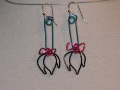 Wire Wrapped Eeyore's Tail Earrings MADE to ORDER by 1ofAkinds, $10.00