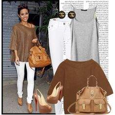 2* Frankie Sandford, created by celeb-style-x on Polyvore
