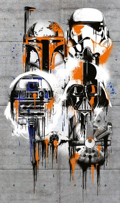 VD-022 Star Wars Celebrate The Galaxy - Classic STAR WARS characters designed in modern graffit art. (Komar Products)