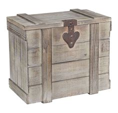 Household Essentials Grey Wooden Small Home Chest (Small Wooden Home Chest), Tan(Metal) Wooden Trunks, Wooden Chest, Decorative Storage, Decorative Items, Rustic Accent Table, Wicker Laundry Hamper, Contemporary Bookcase, Shabby Chic Kitchen, Grey Wood