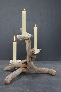 Driftwood Candle holder,Driftwood Candelabra,Driftwood candle stand,Table centre
