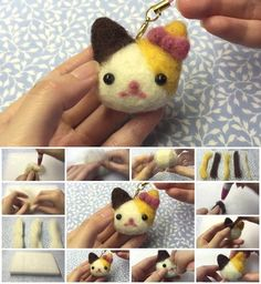 How to Make Easy Kitty Plush Needle Felt