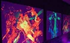 Obras de arte en pintura fluorescente. www.acmelight.la