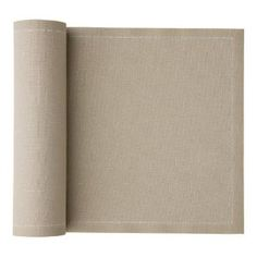 linen napkins on a roll.  a roll for each side of table