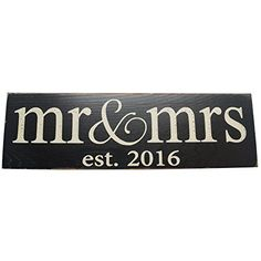 Local Artist Mr Mrs Est 2015 Wood Sign Wedding Wall Decoration >>> Continue to the product at the image link. Vintage Wood Signs, Wooden Signs, Unique Wedding Gifts, Unique Weddings, Wedding Things, Wedding Stuff, Mr Mrs, Wedding Wall Decorations, Decor Wedding