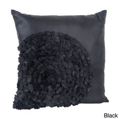 @Overstock - Flower Textured Throw Pillow - Dress up any room in contemporary style with this decorative pillow. This filled flower design pillow is available in classic black, burgundy, cappuccino, chocolate, eggplant, heather, or ivory.  http://www.overstock.com/Home-Garden/Flower-Textured-Throw-Pillow/9135216/product.html?CID=214117 $34.99