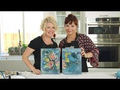 Another episode of our IOD Gallery wall series! We are going to create the Painterly Roses and BBB set from the gallery you can find in episode one! French Country Crafts, Decoupage On Canvas, Diy Design, Design Projects, Craft Projects, Craft Ideas, Iron Orchid Designs, Free Printable Art, Reclaimed Wood Projects