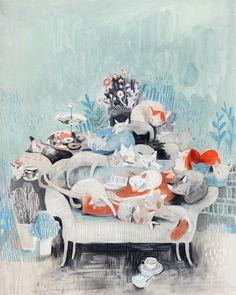 Coyote Atelier illustration inspiration: Isabelle Arsenault.