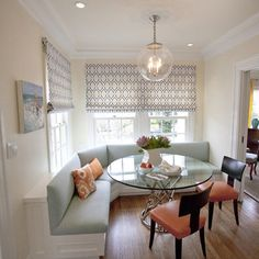 Contemporary Dining Room Breakfast Nook Design