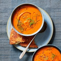 Tomato & Fennel Soup Recipe - Rachael Ray In Season Tomato Soup, Soup Recipes, Great Recipes, Cooking Recipes, Winter Soups, Winter Food, Healthy Options, Healthy Recipes