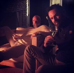 """""""Duncan and the Murtagh Mobile have made their way to meet up with Graham. Outlander Quotes, Outlander Casting, Stanley Weber, Bear Mccreary, Duncan Lacroix, Laura Donnelly, Graham Mctavish, Richard Rankin, Writing Characters"""