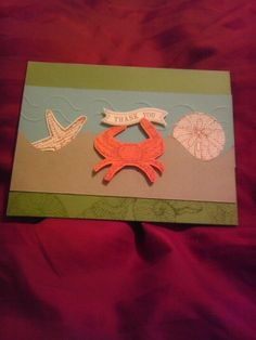 Thank You card. Design by my Stampin' up Demonstrator.