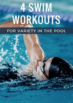 Land-locked and cold, winter leaves us with no choice other than training in the pool exclusively (unless you're really bold).These four simple ideas for swim workouts vary in distance and function, with each workout allowing the option for your own iterations of drills, number of repeats and length of rest intervals. 4 Swim Workouts for Variety in the Pool http://www.active.com/triathlon/articles/4-swim-workouts-for-variety-in-the-pool?cmp=17N-PB33-S14-T1-D6--1086