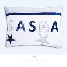Coussin prénom personnalisé sasha marin cadeau de naissance