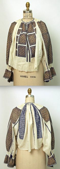 Search the Metropolitan Museum's Collection Online. Bohemian Costume, Folk Costume, Costumes, Museum Collection, Historical Costume, Romania, Print Patterns, Textiles, Embroidery