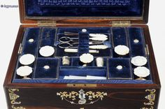 a fully fitted sewing box