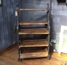 Original Washing Mangle Shelves | Home | Reclaimed World Ladder Bookcase, Upcycle, Home And Garden, Shelves, The Originals, Kitchen, Furniture, Clothes, Ideas