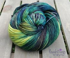 Ewetopia DK 3.4 oz, Hand dyed yarn, Superwash Merino Wool, 238 yds/ 100g: Cassiopeia. by Lambstrings on Etsy