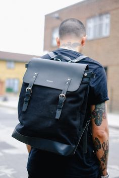 Hege in Black worn by Jefferson Pires  Sandqvist  Jefrsn  Bookbag  Backpack    668ae716579af