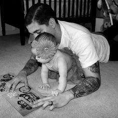 Tattooed dad. #tattoo #tattoos #ink