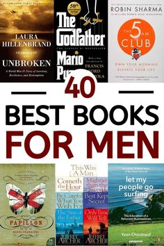 The best 40 books for men that every single man should read as soon as possible! These books for men contain books that'll teach you things about life, finance, history, and much more. Best Hobbies For Men, Best Books For Men, Great Books, Inspirational Books To Read, Top Books To Read, Self Development Books, Memoir Writing, Books For Self Improvement, Power Of Now