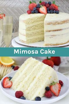 Mimosa Cake Recipe Whether you're celebrating the holidays or not, this Mimosa Cake will be a crowd pleaser. This cake is a moist champagne sponge cake with an orange Swiss meringue buttercream frosting. Swiss Meringue Buttercream, Buttercream Frosting, Frosting Recipes, Cupcakes, Cupcake Cakes, Sweets Cake, Best Cake Recipes, Dessert Recipes, Meringue Suisse