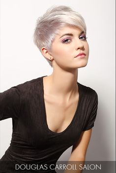 Funk-up your silvery hue with super short sides that are unleashed into longer lengths at the crown for a sleek and sexy 'do.