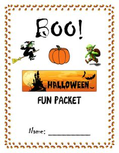 """This is just a fun activity packet to use right before Halloween or on Halloween day when the students have """"checked"""" out.  Included is:-Math Sheets (1 multiplication, 1 addition, 1 subtraction)-Batty Word Problems-Word Search-Alphabetical Order-Monster Description Story-Candy Point of View Story-Figurative Language Sheet-Fill in the blank"""