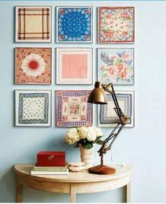 A handkerchief photo frame decoration