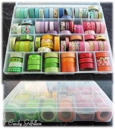 Washi tape storeage by frenziedstamper - Cards and Paper Crafts at Splitcoaststampers
