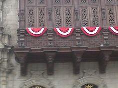 balcones de Lima Colonial. Fiesta de la Independencia:28 de julio