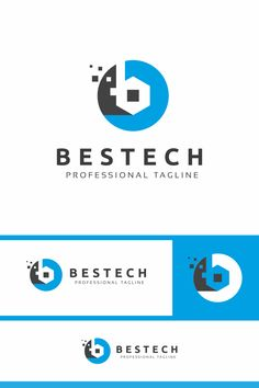 Bestech B Letter Logo: multifunctional logo that can be used in technological companies, in companies and applications for software development, construction B Letter Logo, Letter B, Data Logo, Construction Logo Design, Carpet Stores, Retail Logo, Persian Carpet, Software Development, Logo Templates